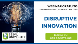 Webinar Disruptive Innovation - Sesvil University